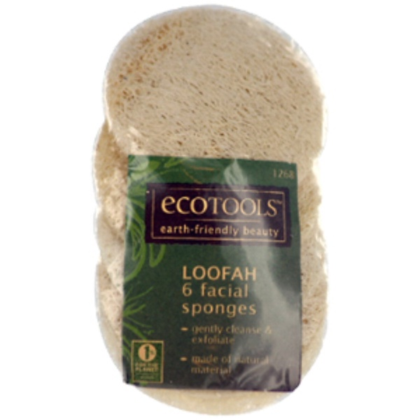 EcoTools, Loofah Facial Sponges, 6 Loofahs (Discontinued Item)