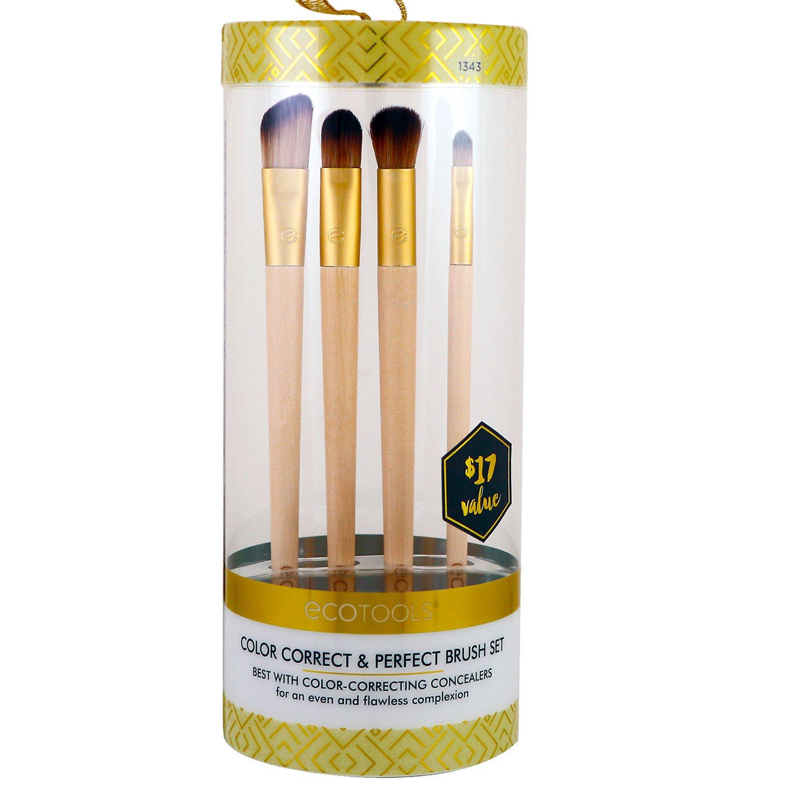 ecotools brushes set. ecotools, gold collection, color correct \u0026 perfect brush set, 4 brushes ecotools set