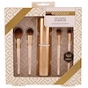 EcoTools, Gold Collection, Soft Smokey Eye Brush Set, 4 Brushes + Case