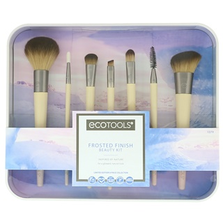 EcoTools, Frosted Finish Beauty Kit, 7 Piece Set & Storage Tray