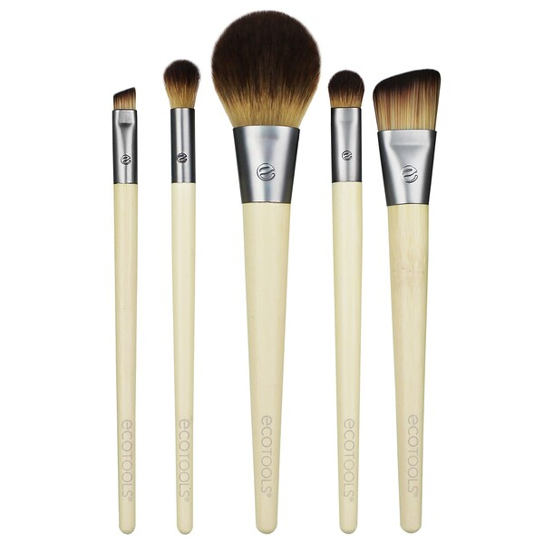 EcoTools, Start The Day Beautifully Brush Set, 5 Piece Set & Storage Tray