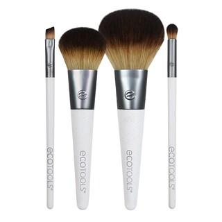 EcoTools, Набор кистей для макияжа на ходу, 4 кисти, карманный размер