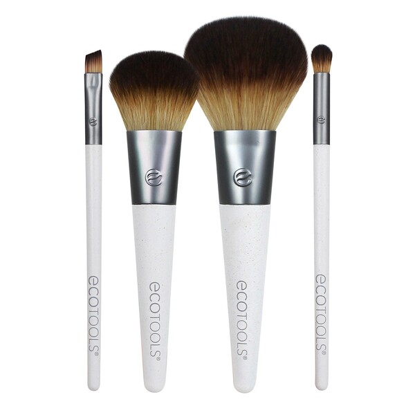 On The Go Style Brush Set, 4 Piece Set & Dual Pocket Case