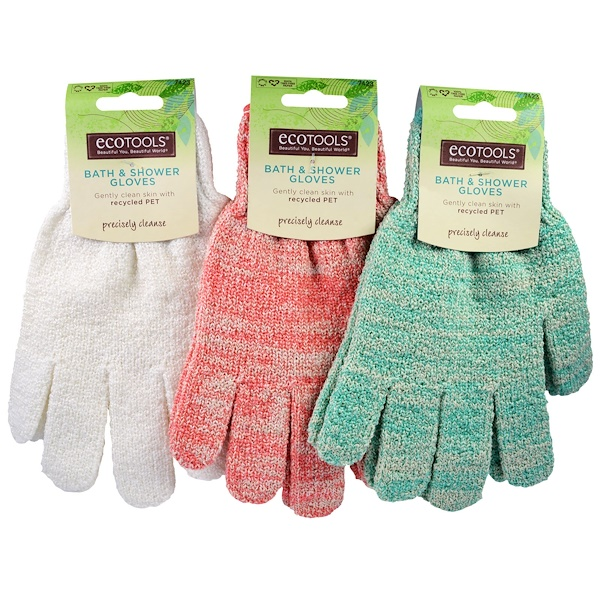 EcoTools, Bath & Shower Gloves, 1 Pair