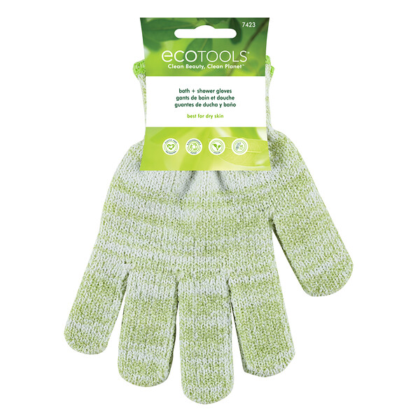 EcoTools, Bath + Shower Gloves, 1 Pair