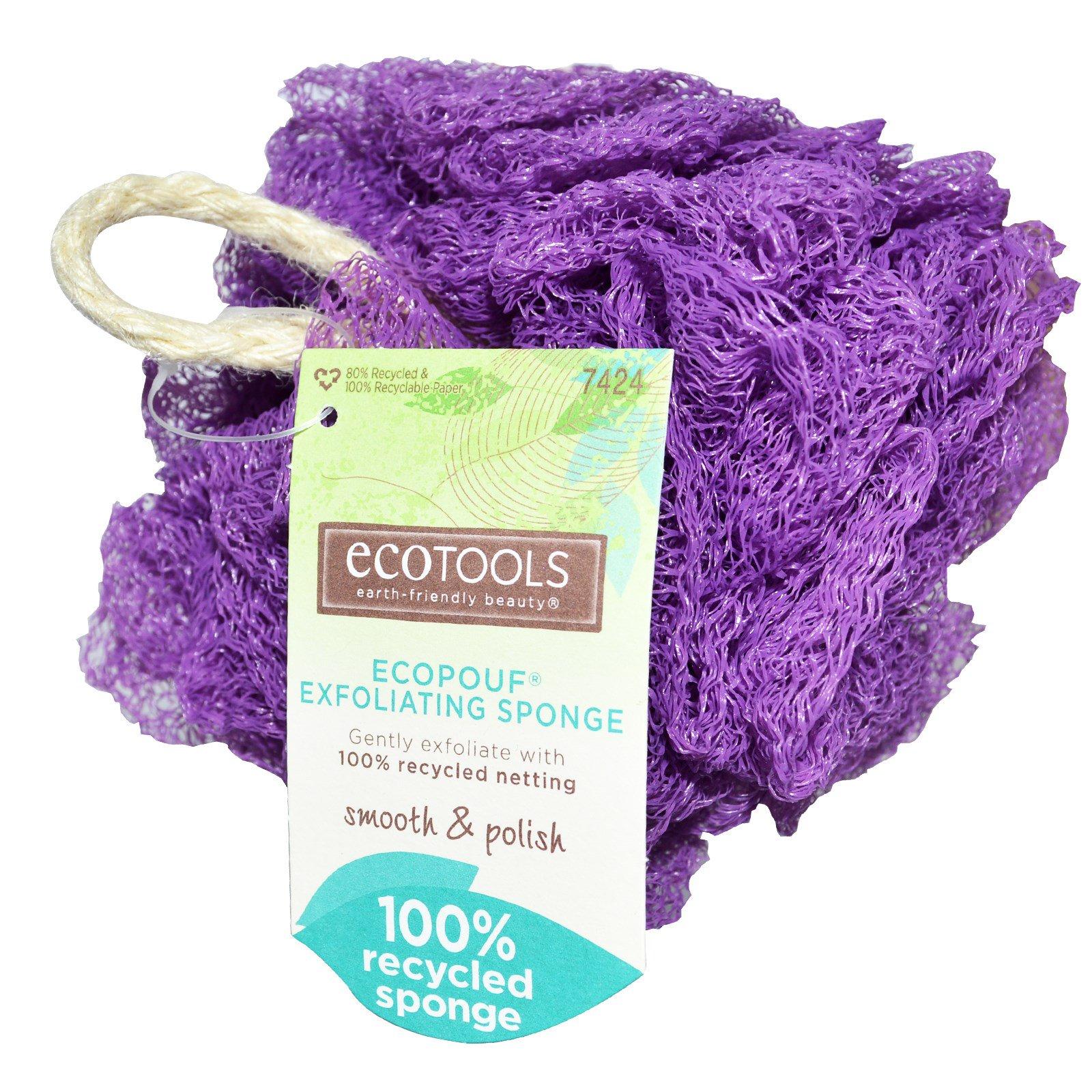 EcoTools, EcoPouf, Отшелушивающая губка, 1 губка