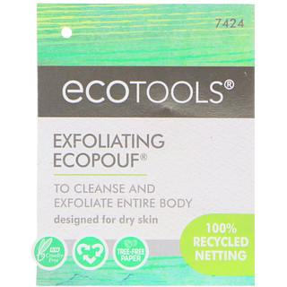 EcoTools, Esponja Esfoliante EcoPouf, 1 Esponja