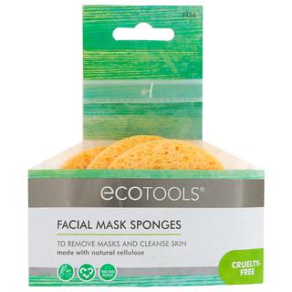 EcoTools, Facial Mask Sponges, 3 Sponges