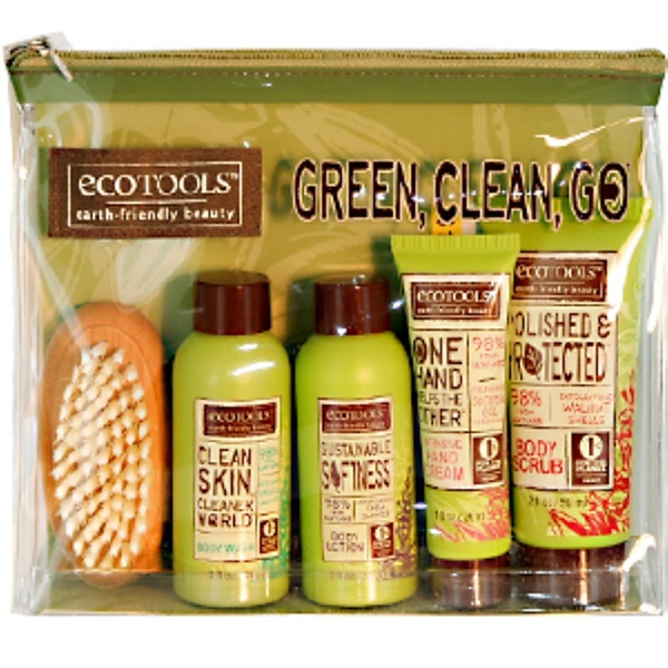EcoTools, Green-Clean-Go, Travel Sampler Set, 5 Piece Kit (Discontinued Item)