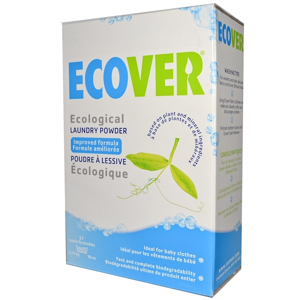 Ecover, Ecological Laundry Powder, 96 oz (2.72 kg) (Discontinued Item)