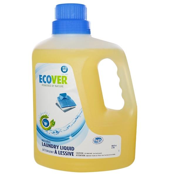 Ecover, Natural Laundry Liquid, 100 fl oz (2.95 l) (Discontinued Item)