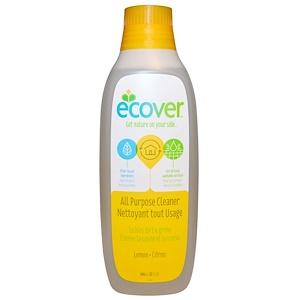 Эковер, All Purpose Cleaner, Lemon, 32 fl oz (946 ml) отзывы покупателей
