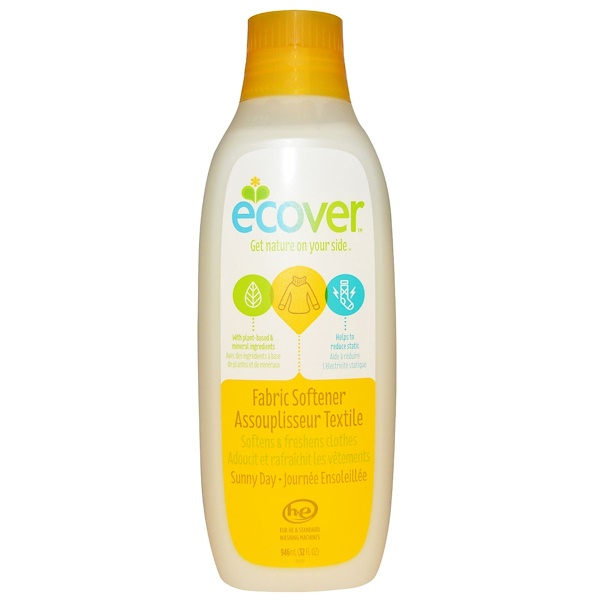 Ecover, Fabric Softener, Sunny Day, 32 fl oz (946 ml)