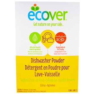 Ecover, Dishwasher Powder, Citrus Scent, 48 oz (1.36 kg)