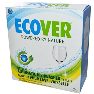 Ecover, Natural Automatic Dishwasher Tablets, Citrus Scent, 25 Tablets, 17.6 oz (0.5 kg)