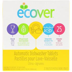 Эковер, Automatic Dishwasher Tablets, Citrus, 25 Tablets, 17.6 oz (0.5 kg) отзывы покупателей
