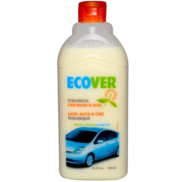 Ecover, Ecological Car Wash & Wax, 16.9 fl oz (500 ml) (Discontinued Item)