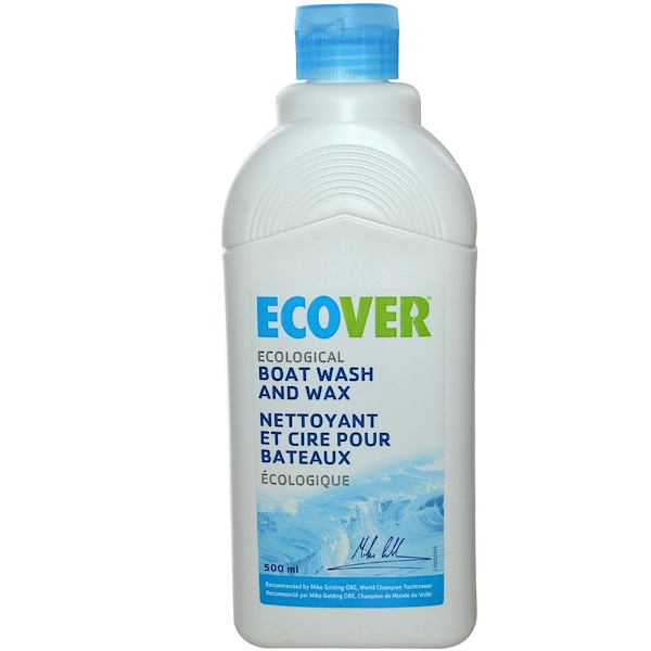 Ecover, Ecological Boat Wash and Wax, 16.9 fl oz (500 ml) (Discontinued Item)