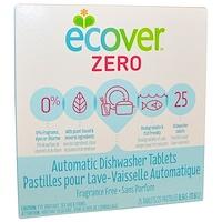 Zero, таблетки для автоматических посудомоечных машин, без ароматизаторов, 25 таблеток, 17,6 унции (0,5 kg) - фото