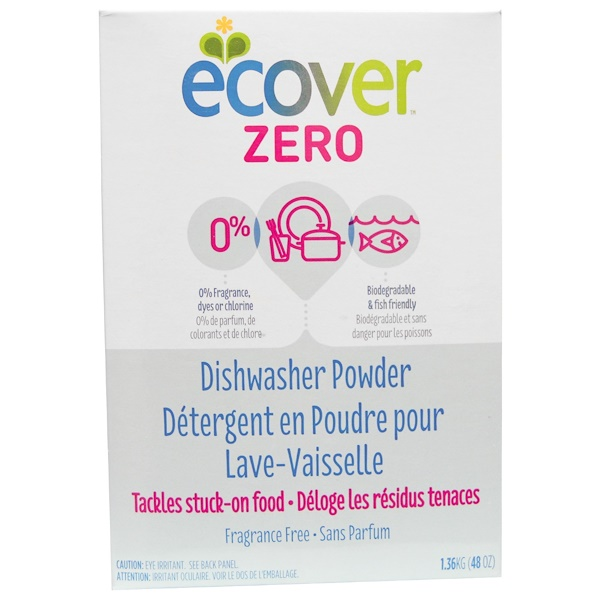 Ecover, Zero Dishwasher Powder, Fragrance Free, 48 oz (1.36 kg) (Discontinued Item)