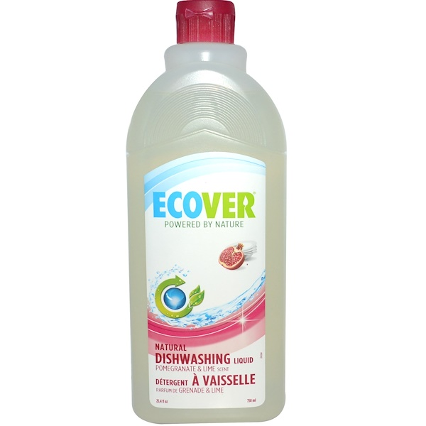 Ecover, Natural Dishwashing Liquid, Pomegranate & Lime, 25.4 fl oz (750 ml) (Discontinued Item)