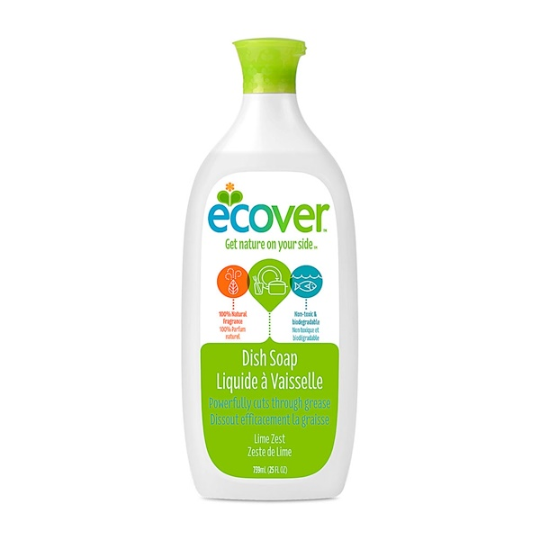 Ecover, Liquid Dish Soap, Lime Zest, 25 fl oz (739 ml) (Discontinued Item)