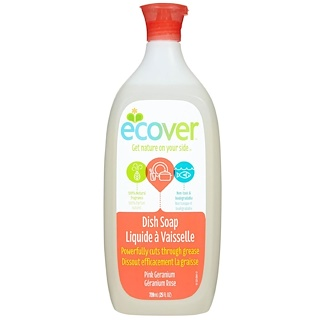 Ecover, 液体 ディッシュソープ、 ピンクゼラニウム、 25液量オンス (739 ml)