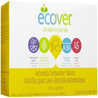 Ecover, Automatische Spⁿlmaschinen-Tabs, Zitrus, 45 Tabletten, 31,7 oz (0,9 kg)