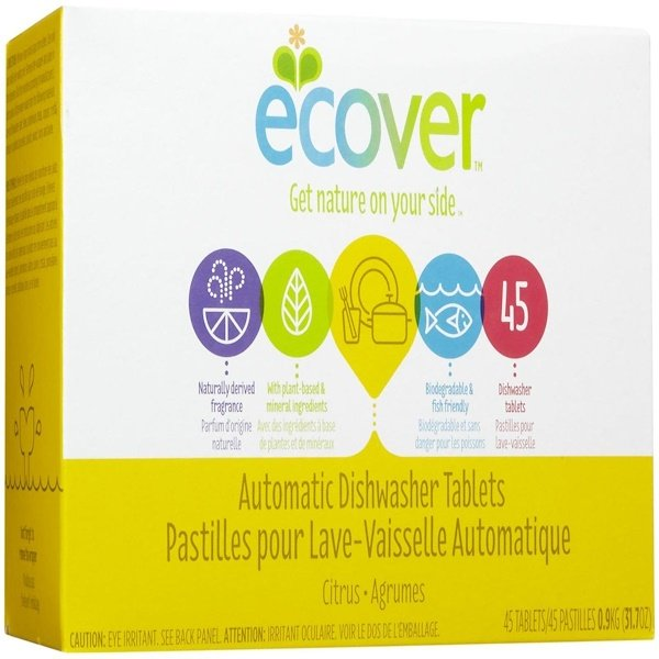 Ecover, Automatic Dishwasher Tablets, Citrus Scent, 45 Tablets, 31.7 oz (0.9 kg) (Discontinued Item)