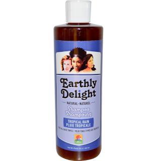 Earthly Delight, Natural Shampoo, For All Hair Types, Tropical Rain, 16 fl oz (454 ml)
