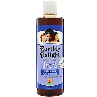 Earthly Delight, Natural Shampoo, For All Hair Types, Tropical Rain, 16 fl oz (454 ml)
