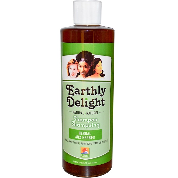 Earthly Delight, Natural Shampoo, For All Hair Types, Herbal, 16 fl oz (454 ml)