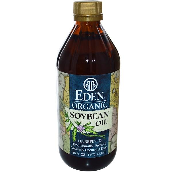 Eden Foods, Organic Soybean Oil, Unrefined, 16 fl oz (473 ml) (Discontinued Item)