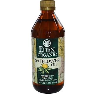 Eden Foods, オーガニック サフラワーオイル, 未精製, 16 液量オンス (473 ml)