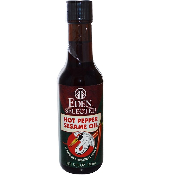 Eden Foods, Selected, Hot Pepper Sesame Oil, 5 fl oz (148 ml) (Discontinued Item)