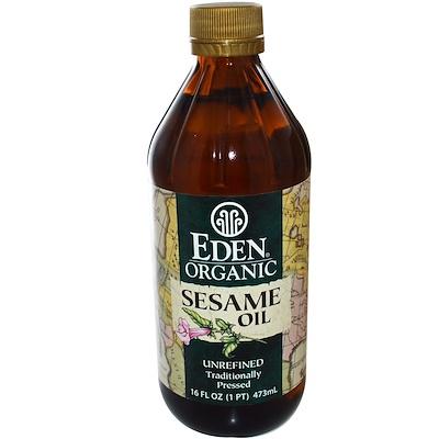 Купить Органическое кунжутное масло, нерафинированное, 16 жидких унций (473 мл)