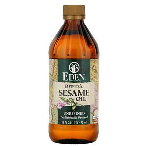 Эдэн Фудс, Organic Sesame Oil, Unrefined, 16 fl oz (473 ml) отзывы покупателей