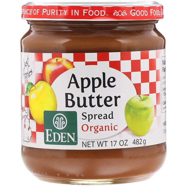 Eden Foods, Organic Apple Butter Spread, 17 oz (482 g) (Discontinued Item)