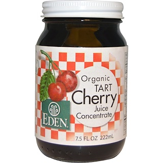 Eden Foods, Organic Tart Cherry Juice Concentrate, 7.5 fl oz (222 ml)