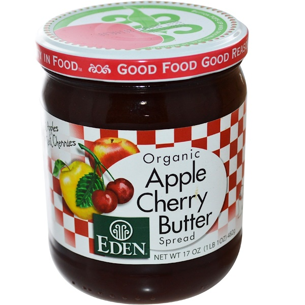 Eden Foods, Organic, Apple Cherry Butter Spread, 17 oz (482 g) (Discontinued Item)