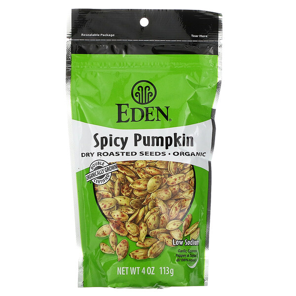 Organic, Spicy Pumpkin Dry Roasted Seeds, 4 oz (113 g)
