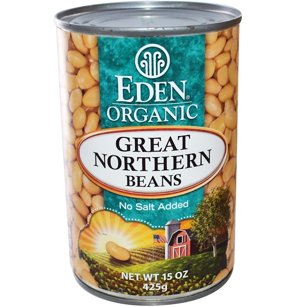 Eden Foods, Organic Great Northern Beans, 15 oz (425 g) (Discontinued Item)