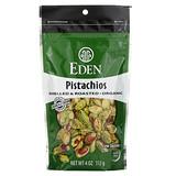Eden Foods, 有機,去殼乾烤開心果,輕輕地海鹽調味,4盎司(113 克)
