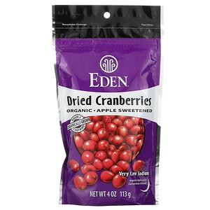 Эдэн Фудс, Organic Dried Cranberries, 4 oz (113 g) отзывы покупателей