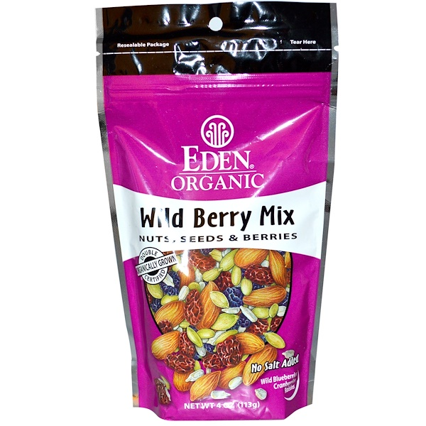 Eden Foods, Organic, Wild Berry Mix, Nuts, Seeds & Berries, 4 oz (113 g)