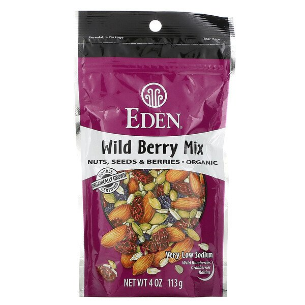Organic, Wild Berry Mix, Nuts, Seeds & Berries, 4 oz (113 g)