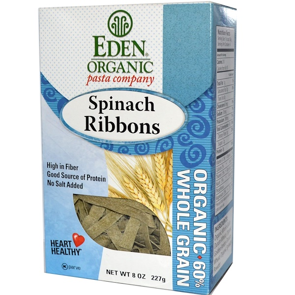 Eden Foods, Organic, Spinach Ribbons, 8 oz (227 g)