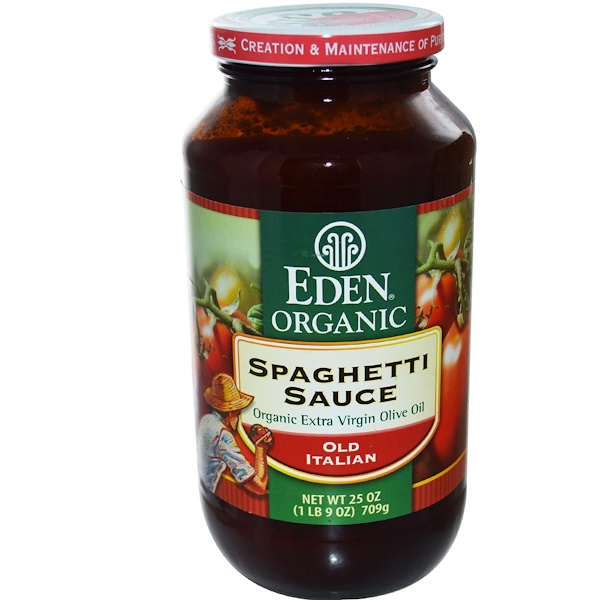 Eden Foods, Organic, Spaghetti Sauce, Old Italian, 25 oz (709 g) (Discontinued Item)