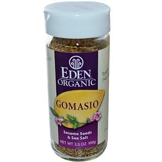 Eden Foods, Органический гомасио, семена черного кунжута и морская соль, 3,5 унции (100 г)