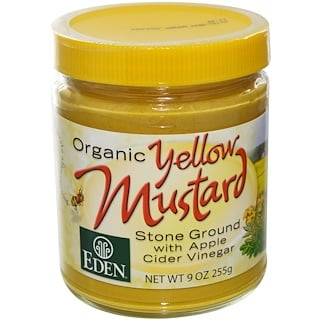 Eden Foods, Organic Yellow Mustard, 9 oz (255 g)